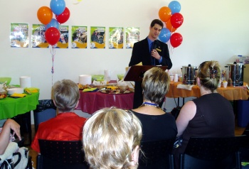 Alex Makin at the launch of Maroondah's Mobility Expo